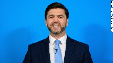 British Work and Pensions Secretary Stephen Crabb.