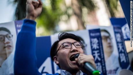 Hong Kong independence activist Edward Leung jailed for six years