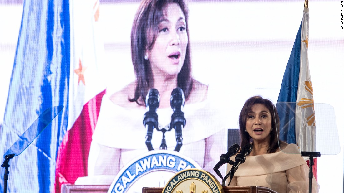"Philippines <a href=""http://cnnphilippines.com/news/2016/06/30/LOOK-Leni-Robredo-takes-oath-of-office-as-Vice-President-of-the-Philippines.html"" target=""_blank"">Vice President Leni Robredo</a> also took the oath of office on Thursday, calling for unity across the country following what became a divisive election."