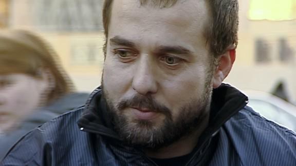 Akhmed Chatayev speaks to the media in Tbilisi, Georgia, in 2012.