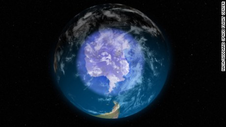 The Antarctic ozone layer was starting to heal
