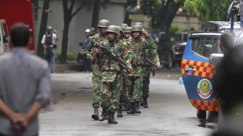 Bangladeshi siege ends with several hostages rescued