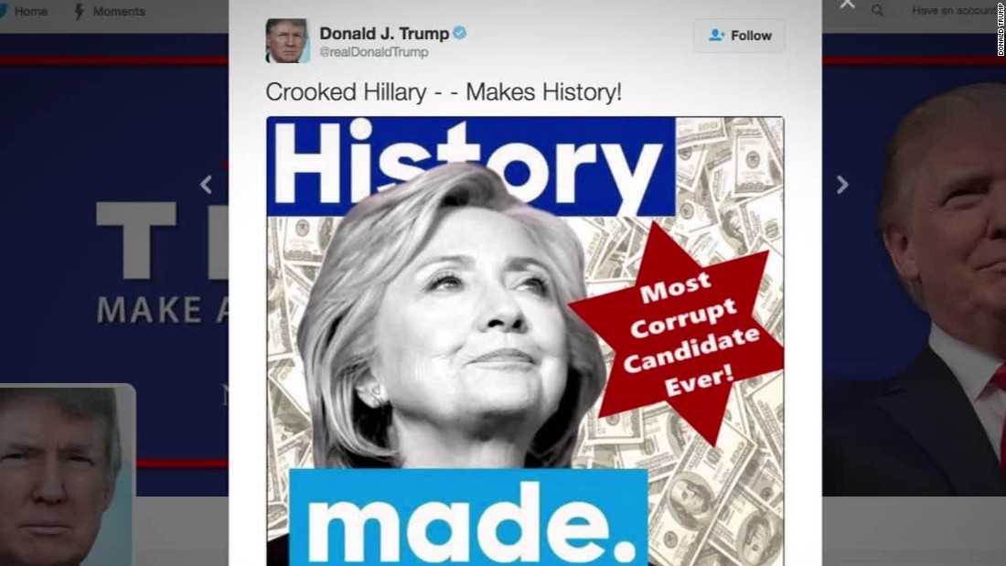 Image result for trump hillary star of david
