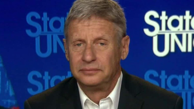 Gary Johnson: Trump a 'racist,' should be disqualified