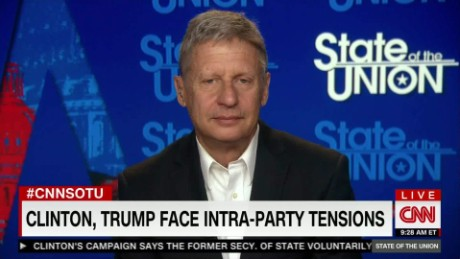 Libertarian Presidential Candidate Gary Johnson on State of the Union - Full Interview_00000000