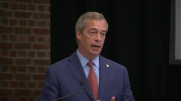 """Nigel Farage announces he will stand down as leader of the UK Independence Party (UKIP), saying """"I"""