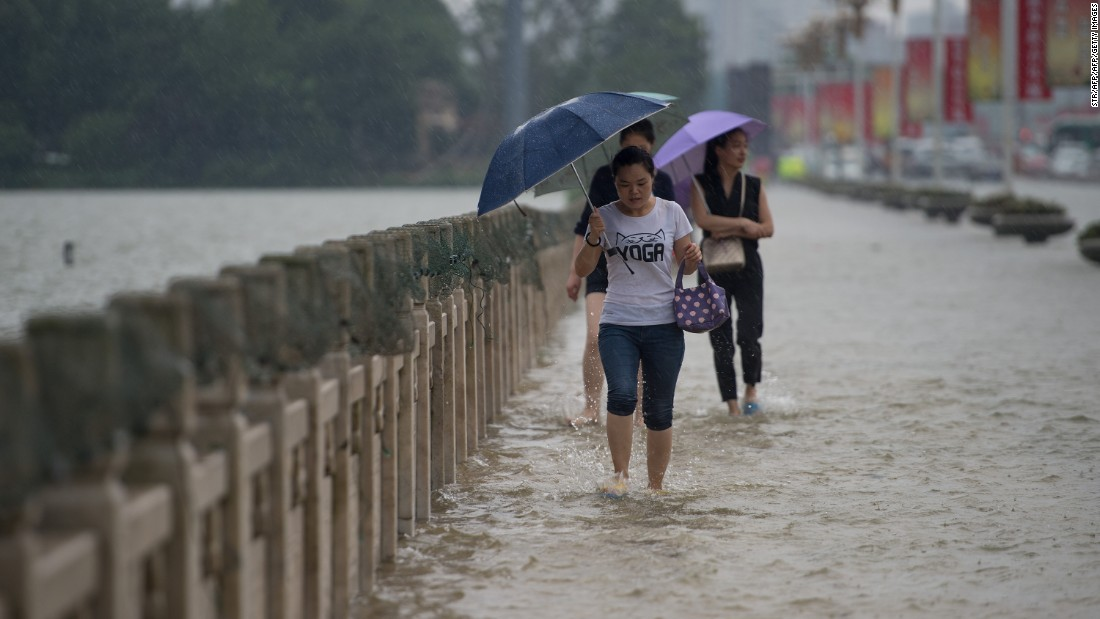 Authorities issued an orange alert for heavy rain on July 2, 2016 for central and southern parts of China.
