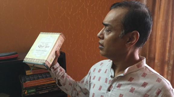 Meer Hayet Kabir gave his son an English version of the Quran so he wouldn't get a warped view of Islam.
