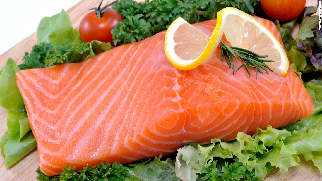 "Salmon, albacore tuna, mackerel, herring, lake trout and sardines are all ""fatty fish"" high in omega-3 fatty acids. The American Heart Association recommends at least two servings a week. Each serving is 3.5 ounces cooked, or about ¾ cup of flaked fish."