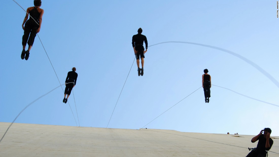 Vertical Dance Pioneers Defy The Laws Of Gravity Cnn Style