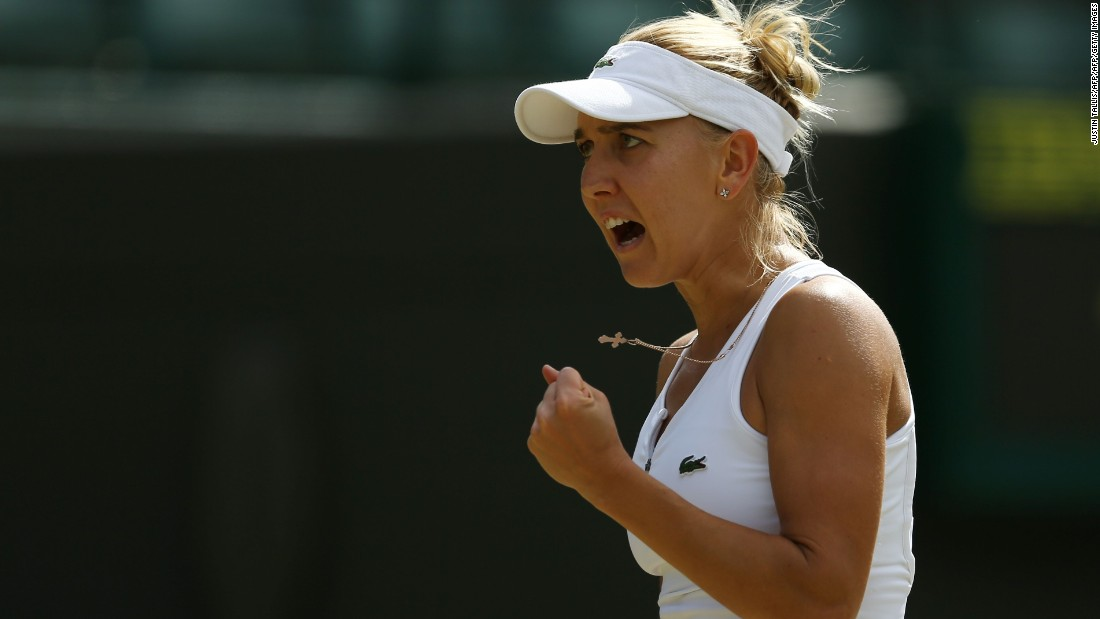 The American will next play another Russian, Elena Vesnina, who beat 19th seed Dominika Cibulkova 6-2 6-2 to reach her first grand slam semifinal. The Slovakian has only once got past a major quarterfinal, losing the 2014 Australian Open title match.