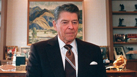 President Ronald Reagan's (1911-2004) son wrote that he believed his father showed early signs of Alzheimer's while still serving as president.