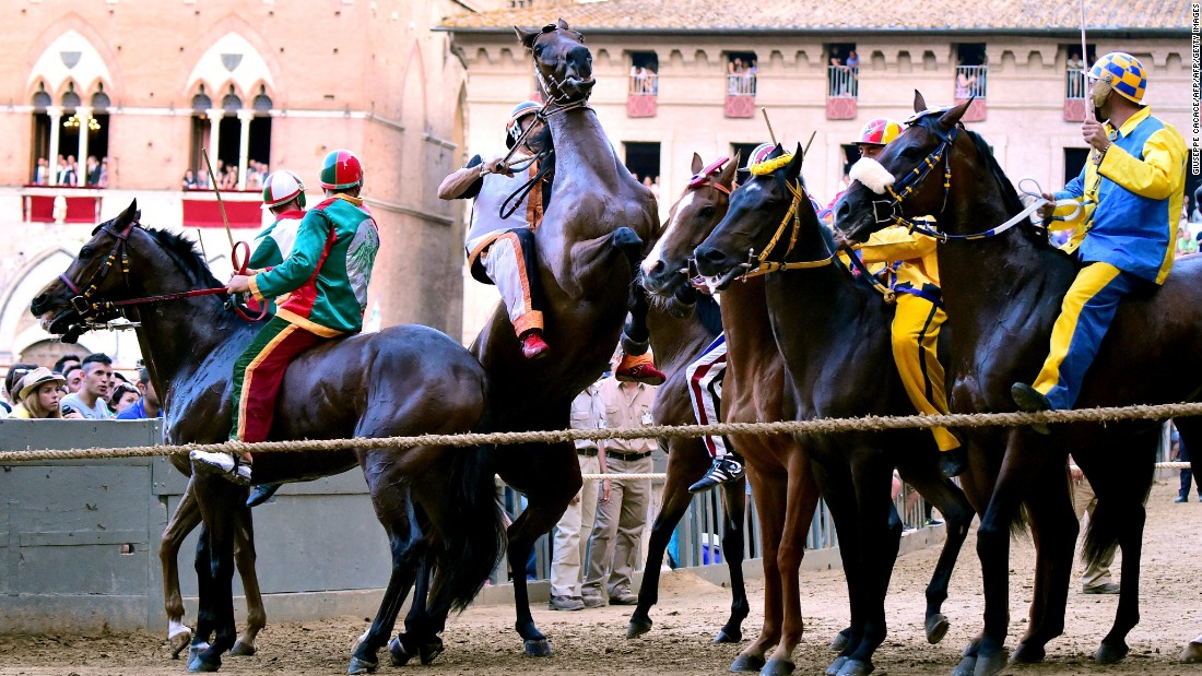 an analysis of the palio horse race in italys city siena
