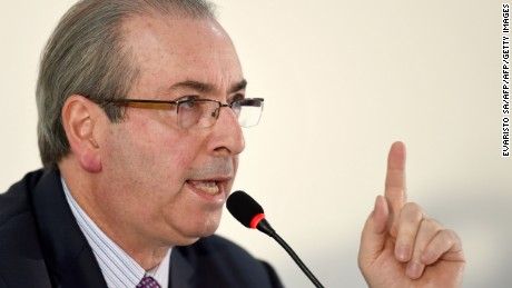 Eduardo Cunha has resigned as speaker of the lower house. He also may lose his congressional seat.