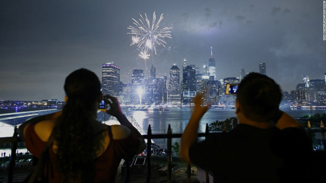 "Fireworks illuminate the New York skyline on Monday, July 4. <a href=""http://www.cnn.com/2016/07/04/us/gallery/july-fourth-2016/index.html"" target=""_blank"">See more July Fourth celebrations</a>"