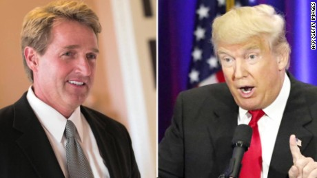 Trump's White House is recruiting primary challengers against Republican Sen. Jeff Flake