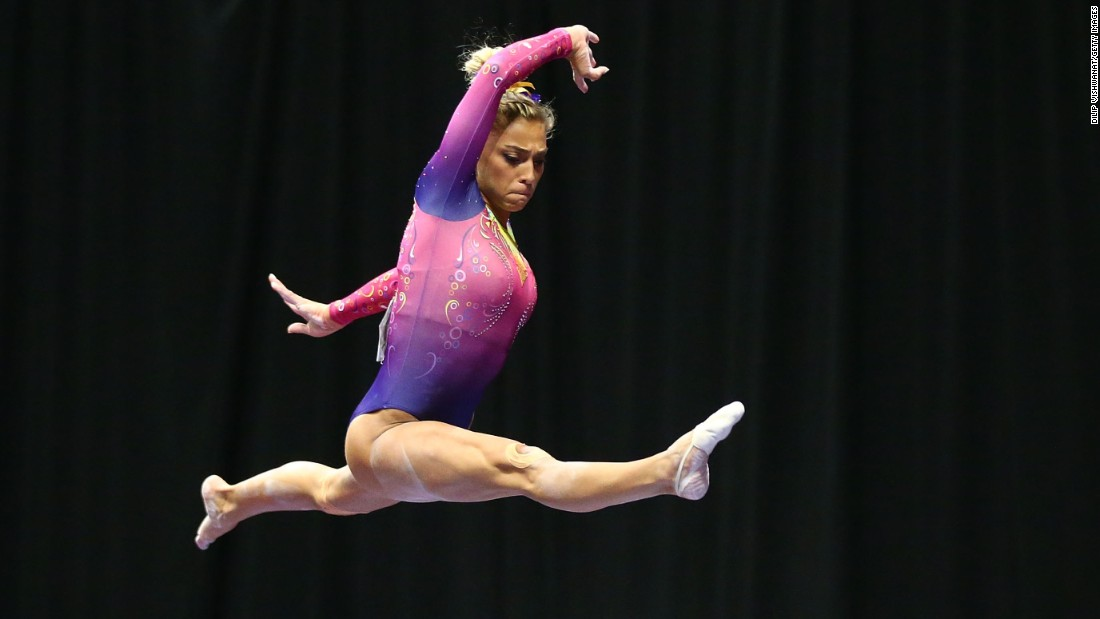 Ashton Locklear finished first in uneven bars and eighth on the balance beam at this year's P&G Championships.