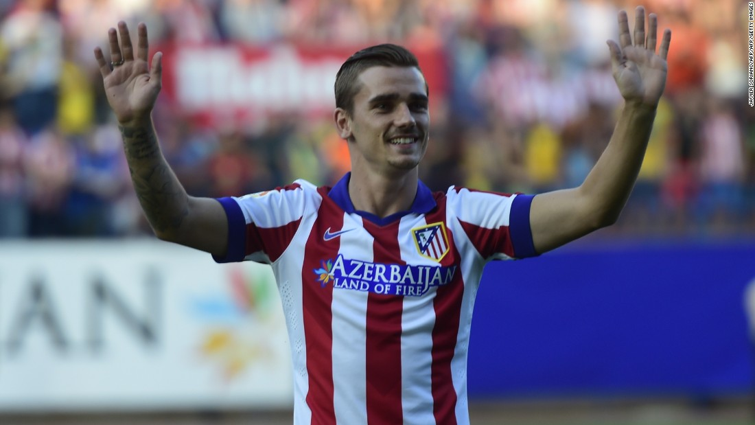 Griezmann joined Spanish champion Atletico Madrid ahead of the 2014-15 season in a $33 million deal.  He scored 25 goals as Atletico finished third in La Liga.