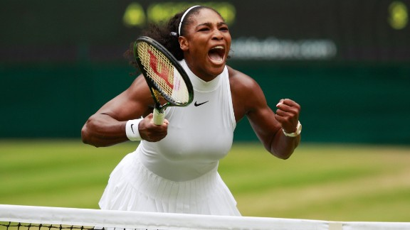Williams shows all the passion she brought to the women's singles final as she retained her Wimbledon crown.