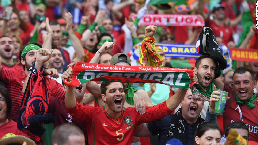 Portugal fans were in good voice ahead of the tie.