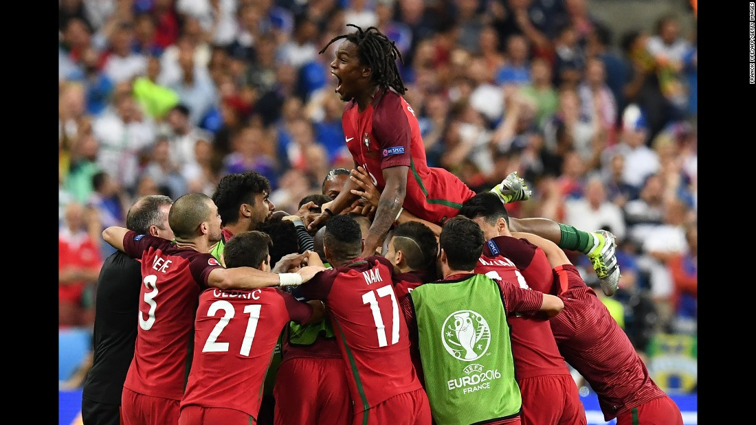 a2b08dabc83 Eder's 109th minute strike sparked wild celebrations as Portugal'.  Photos: Euro 2016 Finals: France Portugal