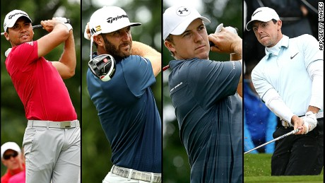 The world's top-four golfers (left to right); Jason Day, Dustin Johnson, Jordan Speith and Rory McIlroy.