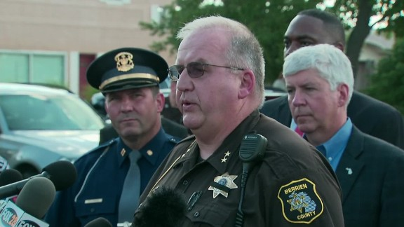 Lt. Paul Bailey gives details of the Berrien County courthouse attack