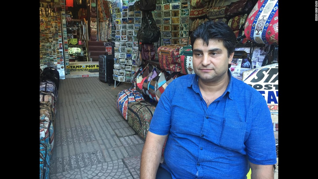 "Tourists were already nervous about visiting Turkey after earlier attacks this year. Shop owner Ahmet says trade has slumped in recent months. ""I used to have two shops but I had to close one, and now this is all I have. I've lost more than 90% of my business,"" he told CNN."