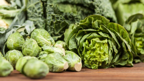 Leafy vegetables, along with dried beans and peas, are a good food source of folic acid. When pregnant, the National Library of Medicine recommends getting at least two of your daily servings of vegetables from green, leafy veggies.