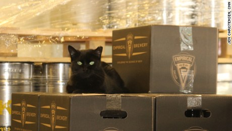 "Gozer, ""the destroyer of hearts,"" guards beer."