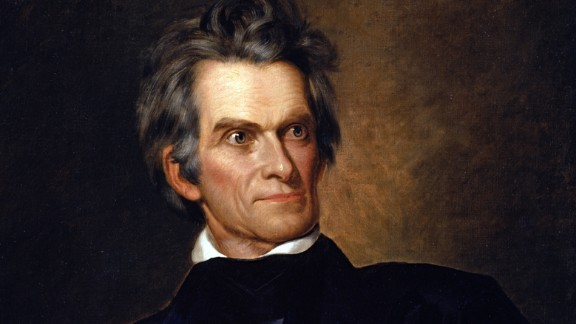"""Best known today as a Southern statesman, political theorist and proponent of slavery, Calhoun served as vice president under John Quincy Adams and stayed in the job for Andrew Jackson. He'd previously been secretary of war and was later secretary of state under John Tyler and James K. Polk. He was also, along with Henry Clay and Daniel Webster, known as one of the """"Great Triumvirate"""" statesmen."""
