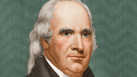 Clinton, the first governor of New York, served as vice president to both Thomas Jefferson and James Madison. He was famous even before he shared a name with the more well-known funk musician. In 1812, he became the first vice president to die in office (heart attack).
