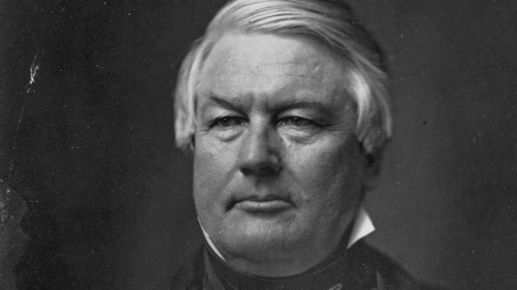 """The Whigs nominated a pro-slavery Virginian, Zachary Taylor, for President in 1848. But adding anti-slavery moderate Fillmore to the ticket mollified the wing of the party opposed to the slave trade. Following Taylor's death, Fillmore served as President during the """"Crisis of 1850."""" His support for the Fugitive Slave Act of 1850 resulted in his losing the 1852 Whig nomination to Winfield Scott. Fillmore was also the founder and first chancellor of the University of Buffalo."""