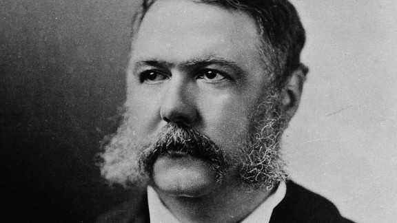 Arthur practiced law in New York City, and in 1871 President Grant named him Collector of the Port of New York, a post from which he doled out patronage jobs for the Republican party machine. He was nominated for vice president to balance the ticket topped by James A. Garfield, who died 200 days into his term after an assassination attempt. Arthur took the oath of office the next day.