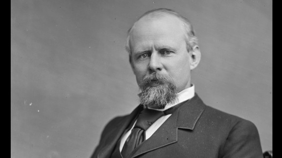 Democrat Stevenson served in Congress and then as the first assistant postmaster general under President Grover Cleveland -- a job that allowed him to fire thousands of Republican postmasters across the country and replace them with Democrats. He joined Cleveland on the ticket in 1892, and as vice president he opposed the Lodge Bill, which aimed to enfranchise southern blacks. His son served as Illinois secretary of state. His grandson and namesake was Illinois governor and ran twice for president in the 1950s. His great-grandson, Adlai Ewing Stevenson III, was a U.S. senator.