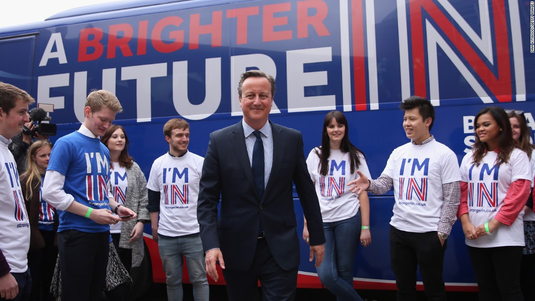 Cameron tries to get the youth vote in April 2016, ahead of the referendum on the UK's membership of the European Union.