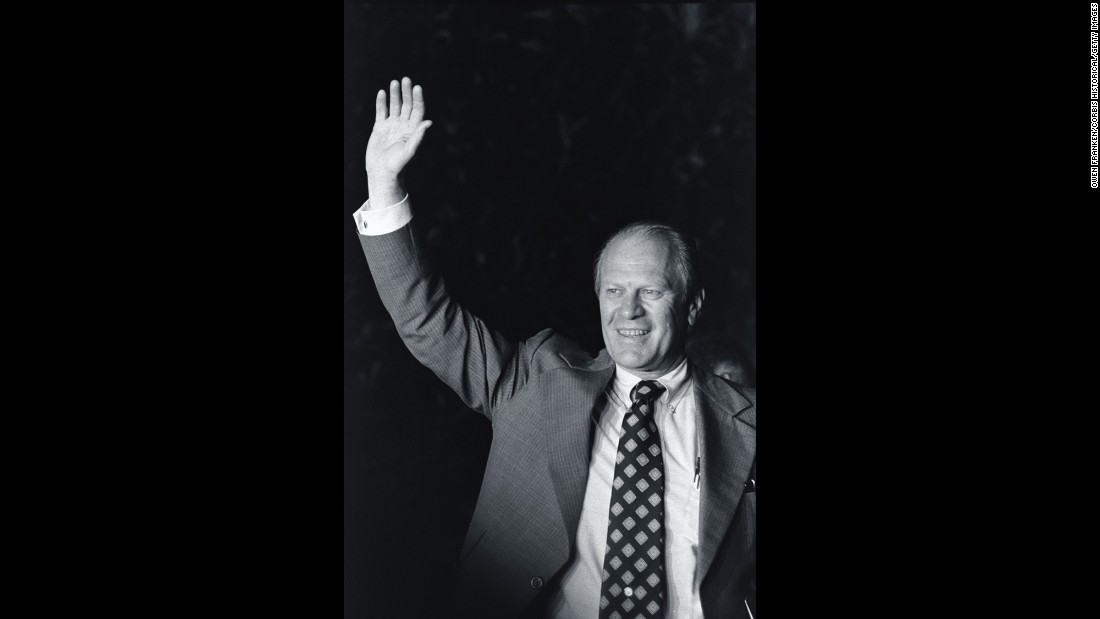 "Ford was a college football star, longtime congressman, husband of a feminist activist, and the first sitting president to be lampooned on ""Saturday Night Live"" (by Chevy Chase). He is best known for assuming the presidency and pardoning Richard Nixon following Nixon's resignation in 1974 over the Watergate scandal. Ford's vice presidency was also birthed by scandal: His predecessor, Spiro Agnew, resigned in the face of charges of tax evasion and money laundering."