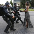 Baton Rouge peaceful protest RESTRICTED