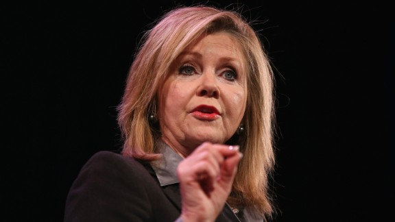 Rep. Marsha Blackburn speaks to guests at the Iowa Freedom Summit on January 24, 2015, in Des Moines, Iowa.