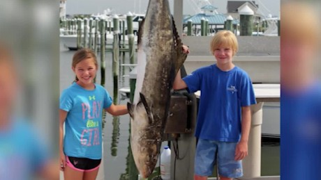 Girl, 9, catches record-breaking fish
