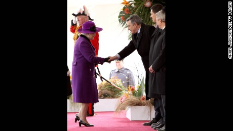 Prime Minister Gordon Brown meets the Queen in March 2010.
