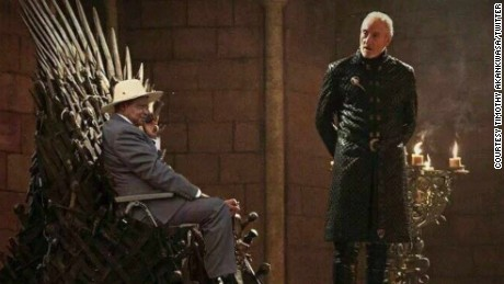 Twitter user Timothy (@Corleone250) transports president Museveni into a scene from TV show Game of Thrones.
