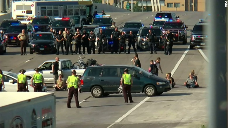 Philando Castile protest shuts down highway
