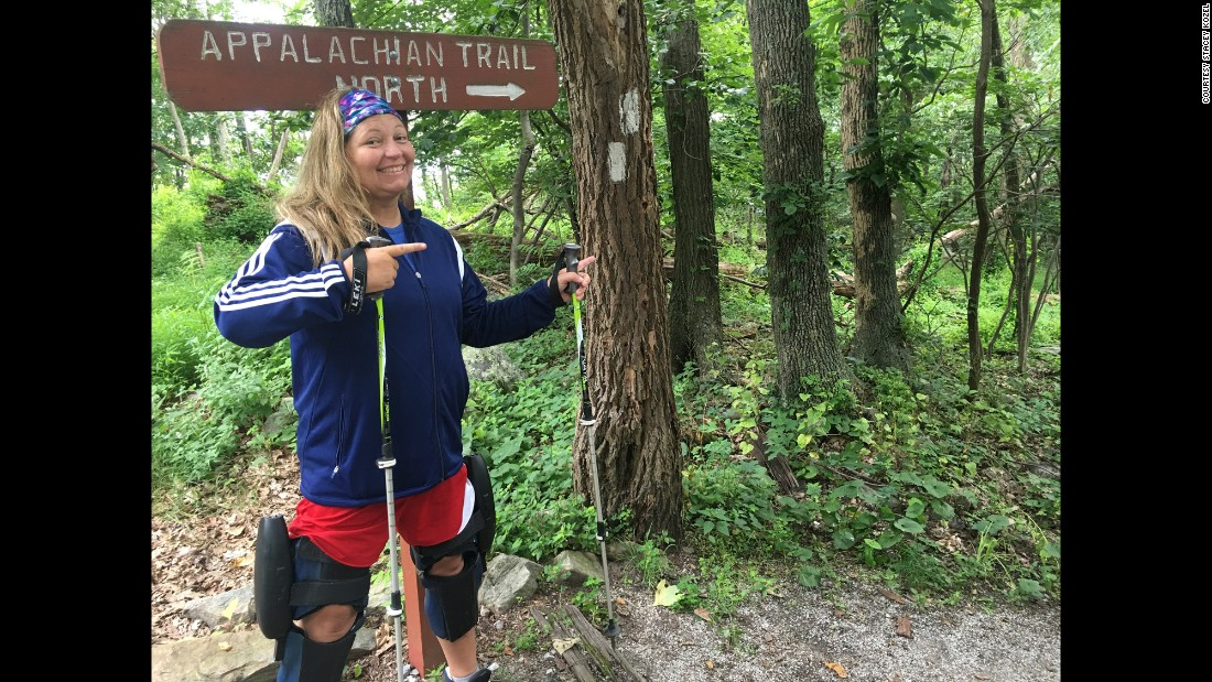Stacey decided to hike the Appalachian Trail to show people how useful the braces are to insurance companies. She hopes her effort can make it easier for others to get the braces covered.