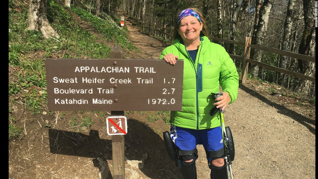 Stacey started her hike this March and has already passed the halfway point of the Appalachian Trail. Her determination has earned her a nickname among the hikers on the trail: Ironwill.