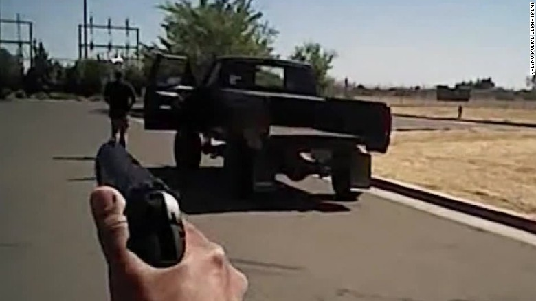 Fresno police video shows shooting of unarmed suspect