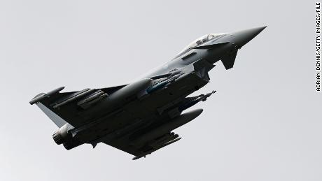 A Eurofighter Typhoon like this one mistakenly fired a missile in Estonian airspace, a NATO official says.