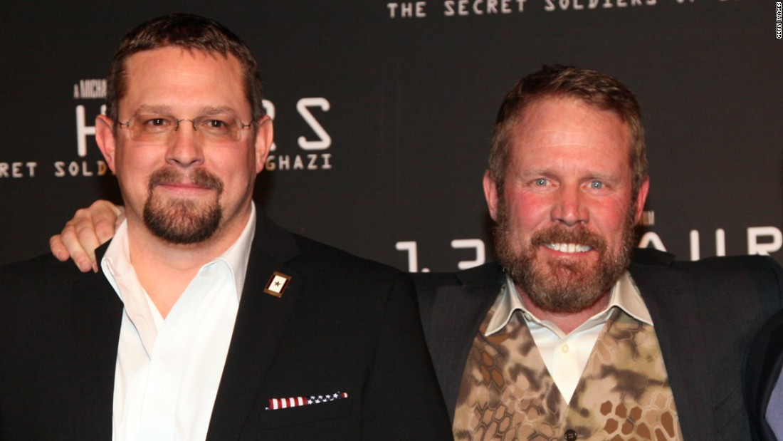 John Tiegen, left, and Mark Geist, survivors of the Benghazi attack