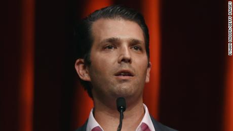 Donald Trump Jr. speaks before an appearance by his father, Republican presidential candidate Donald Trump, during the Outdoor Channel and Sportsman Channel's 16th annual Outdoor Sportsman Awards at The Venetian Las Vegas during the 2016 National Shooting Sports Foundation's Shooting, Hunting, Outdoor Trade (SHOT) Show on January 21, 2016 in Las Vegas, Nevada.