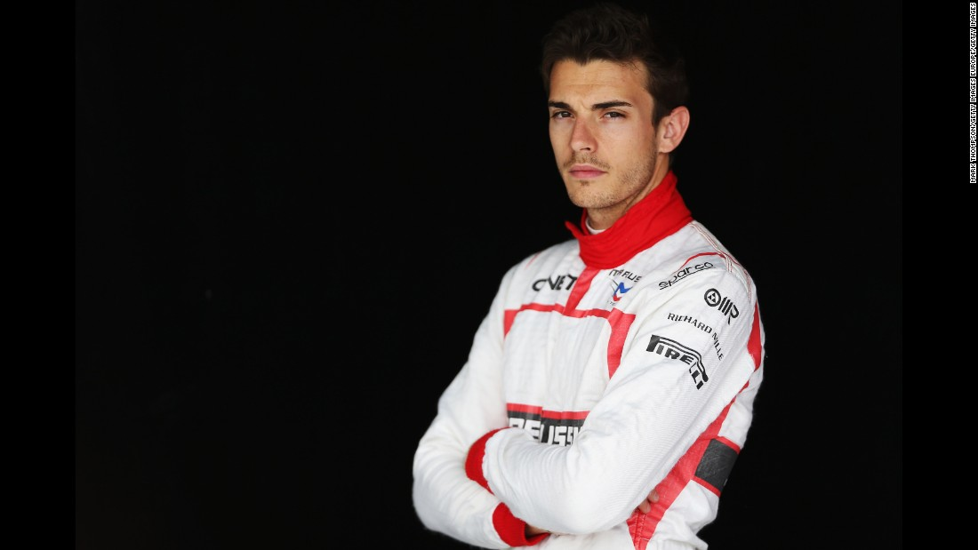 French driver Jules Bianchi poses for a photograph during Formula One winter testing at the Bahrain International Circuit on February 28, 2014. The world of F1 was shaken by the death of the popular driver on July 17, 2015, after he suffered a serious head injury during a crash nine months earlier at the Japanese Grand Prix on October 5, 2014.